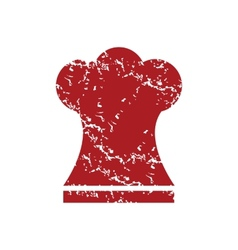 Red grunge chef hat logo vector image vector image