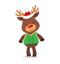 Santa s reindeer rudolph of vector