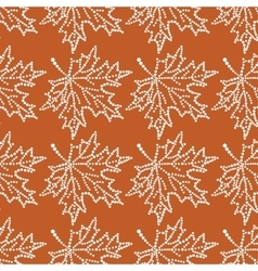 Seamless pattern maple leaf vector