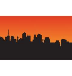 Silhouette of city skyline vector