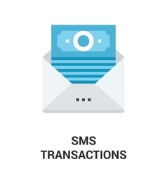 sms transactions icon concept vector image