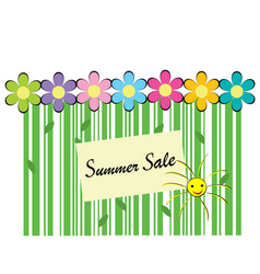 summer sale background with bar code vector image