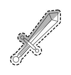 Sword weapon icon vector