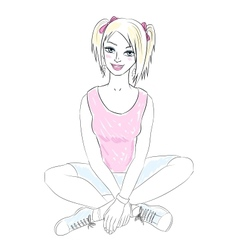 teenager girl vector image