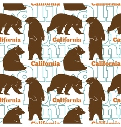 Travel california bears seamless pattern vector