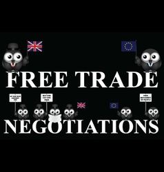 United kingdom free trade negotiations vector