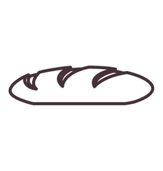 Isolated bread silhouette design vector