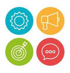 Social marketing flat icons vector