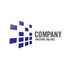 Creative abstract technology logo vector
