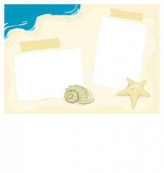 Beach photo frame vector
