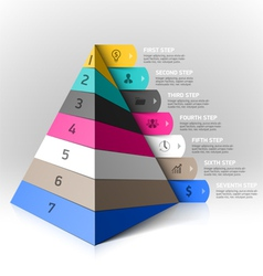 Layered pyramid steps design element vector image
