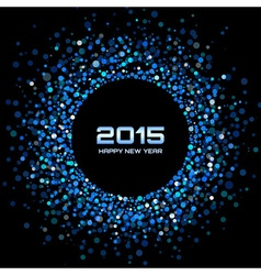 Blue Bright New Year 2015 Background vector image