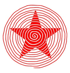Original red spiral star vector