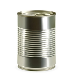 Tin can detailed photo realistic vector image