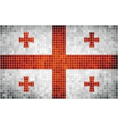 Abstract mosaic flag of georgia vector