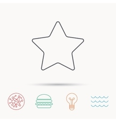 Star icon web favorite sign vector