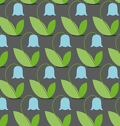 Blue bells seamless pattern flowers background vector
