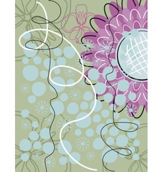 Floral greeting card background vector