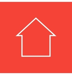 House line icon vector