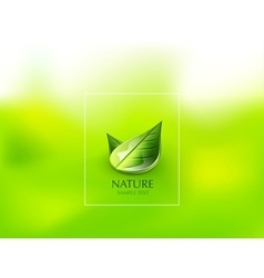 Nature green leaf concept vector