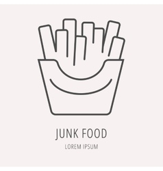 Line logo food or drink vector