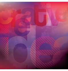 Abstract creative idea background vector