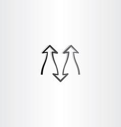 black arrow symbol design element vector image