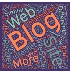 Blogs vs websites what s the big difference text vector