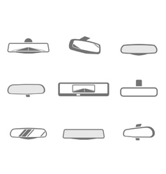 Car mirror icons vector
