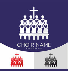 Choir christian church vector