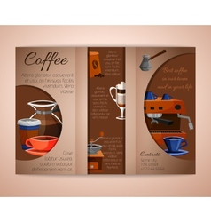 Coffee brochure tri-fold vector