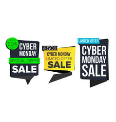 cyber monday sale banner collection online vector image vector image