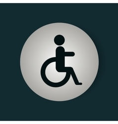 Disable person signal isolated icon vector