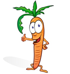 fun carrot cartoon vector image