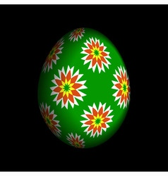 Greeting card - floral easter egg vector