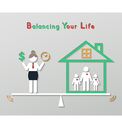 idea balance your life business concept vector image