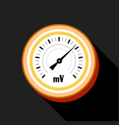 Indicator icon flat style vector