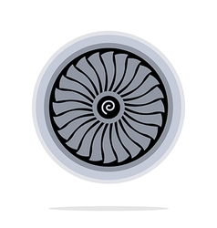 Jet engine turbine vector
