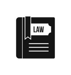 Law book icon simple style vector