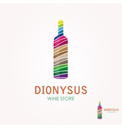 logo with a wine bottle design vector image