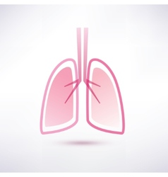 lungs isolated symbol vector image vector image