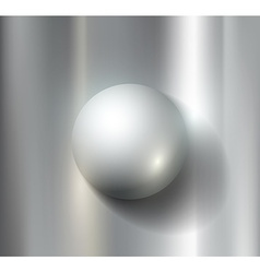 metal ball vector image