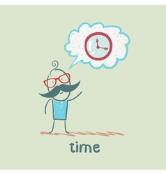One thinks of the time vector