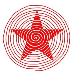 Original red spiral star vector