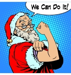 Santa claus we can do it power protest christmas vector