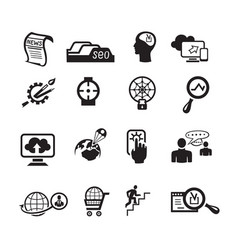 Seo icons set vector