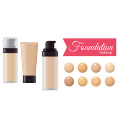 set of foundation cream vector image vector image