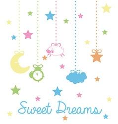 Sweet dreams design vector