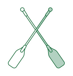 Team canoes flat shadow vector