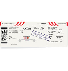 template of airline boarding pass vector image vector image